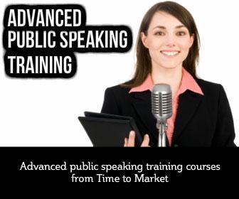 Advanced public speaking training