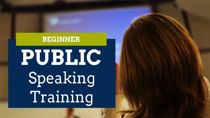 Beginner public speaking training