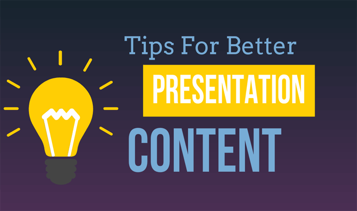better presentation content