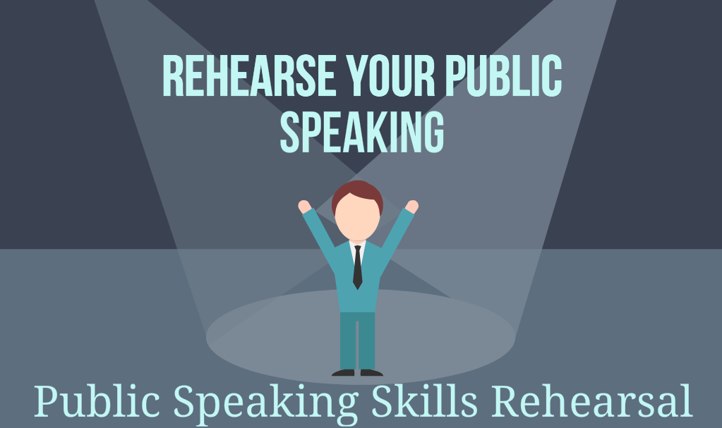 public speaking skills rehearsal with a skilled coach