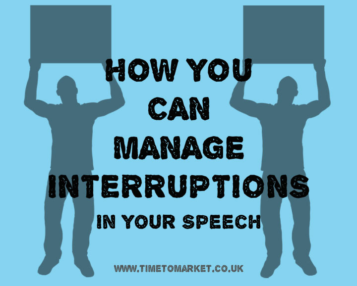 manage interruptions in speech