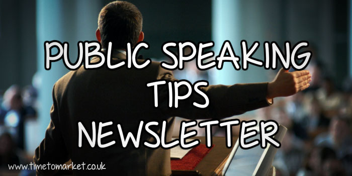 Public speaking tips newsletter