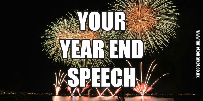 how to give your year end speech