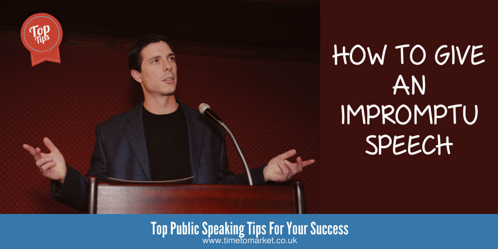 How to give an impromptu speech