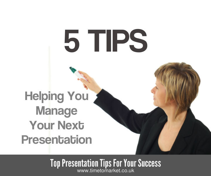 Manage your presentation