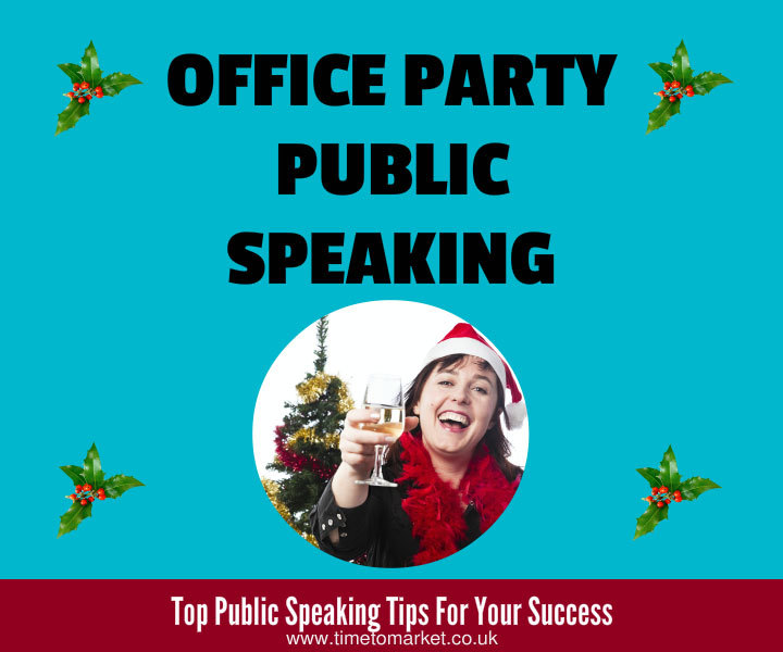 Office party public speaking