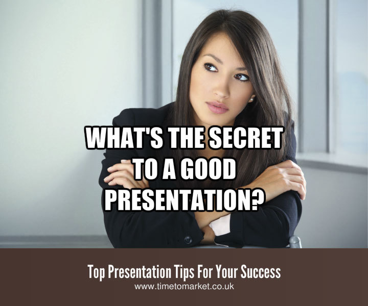 Secret to giving a good presentation