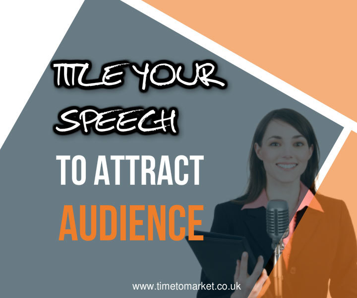 Title your speech