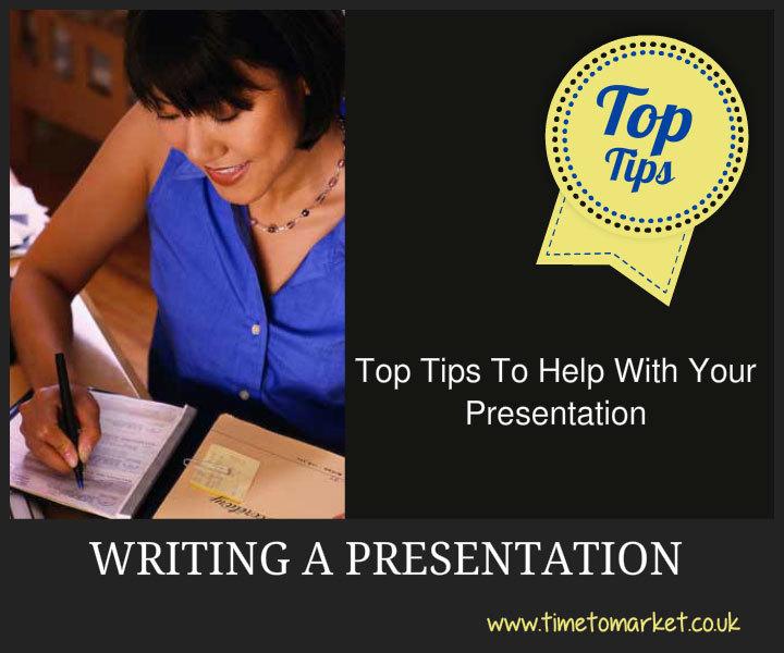 Writing a presentation