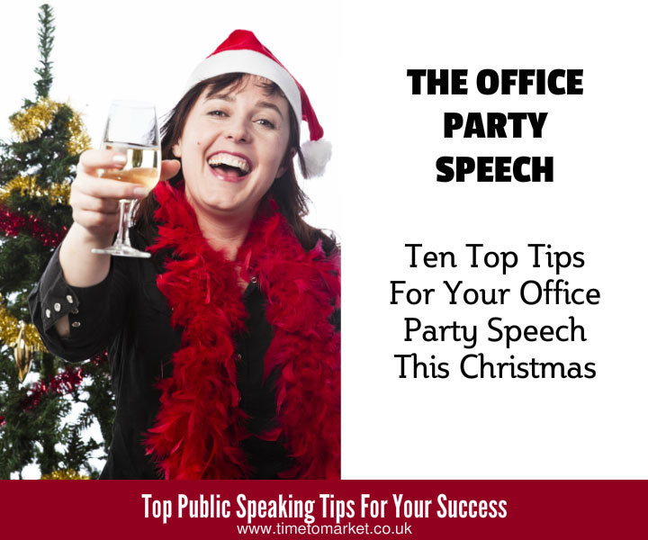Office party speech