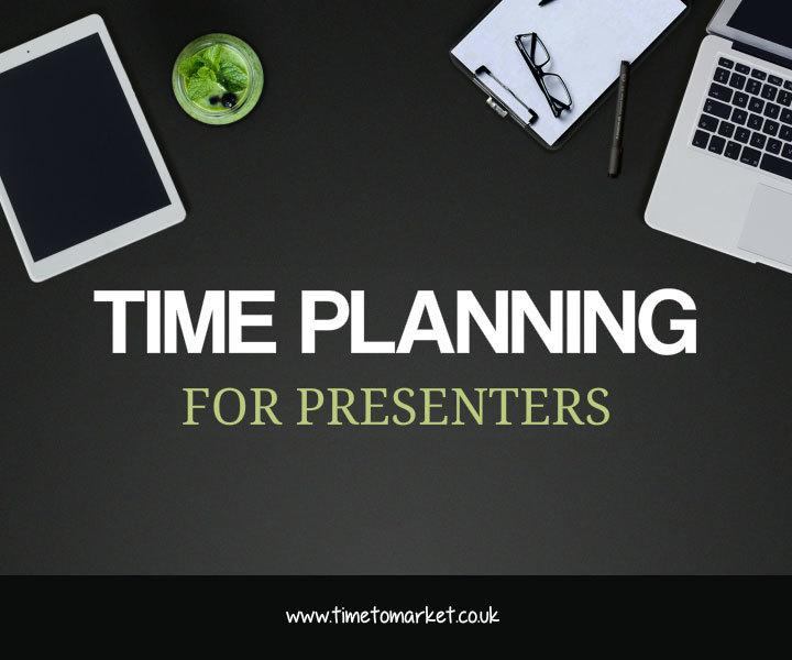 Effective presentation tip: time plannig