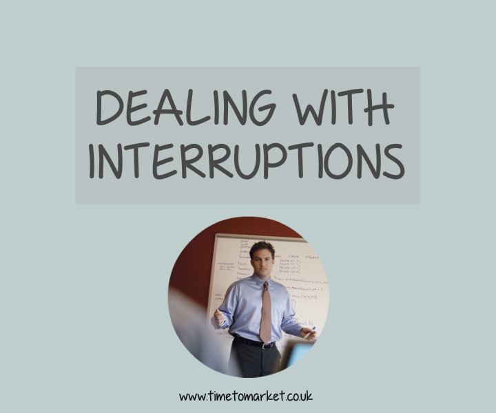 Public speaking dealing with interruptions