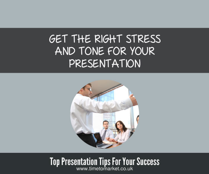 Confident presentation tips with stress and tone