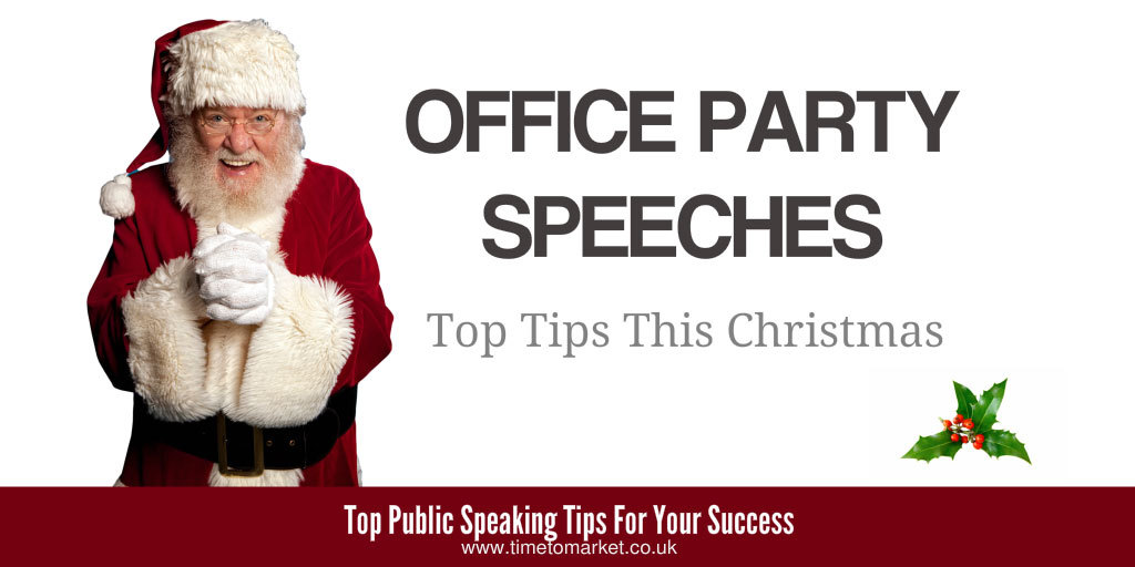 Office party speeches