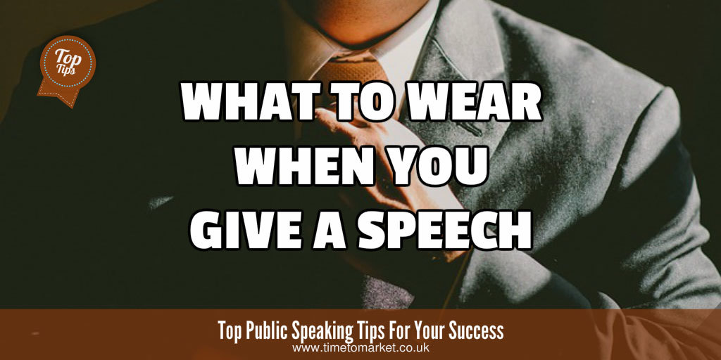 What to wear when you give a speech