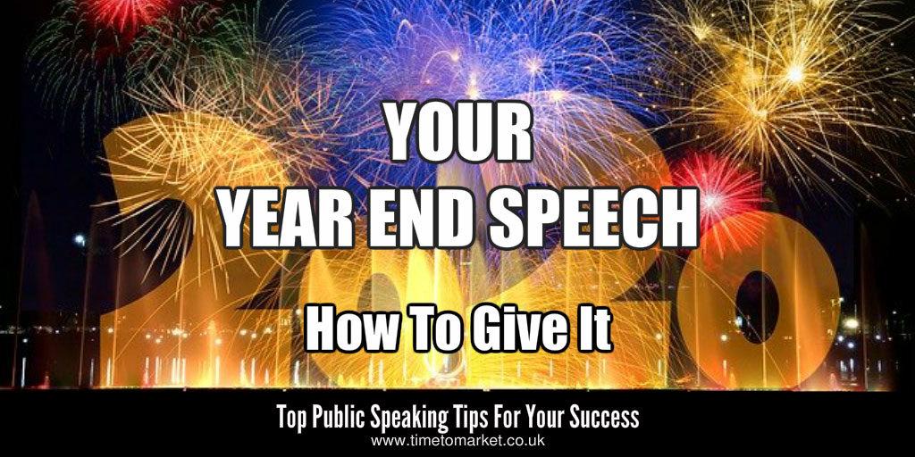 Year end speech