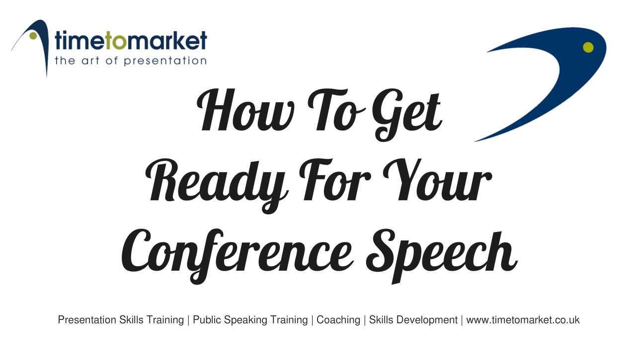 Get ready for your conference speech