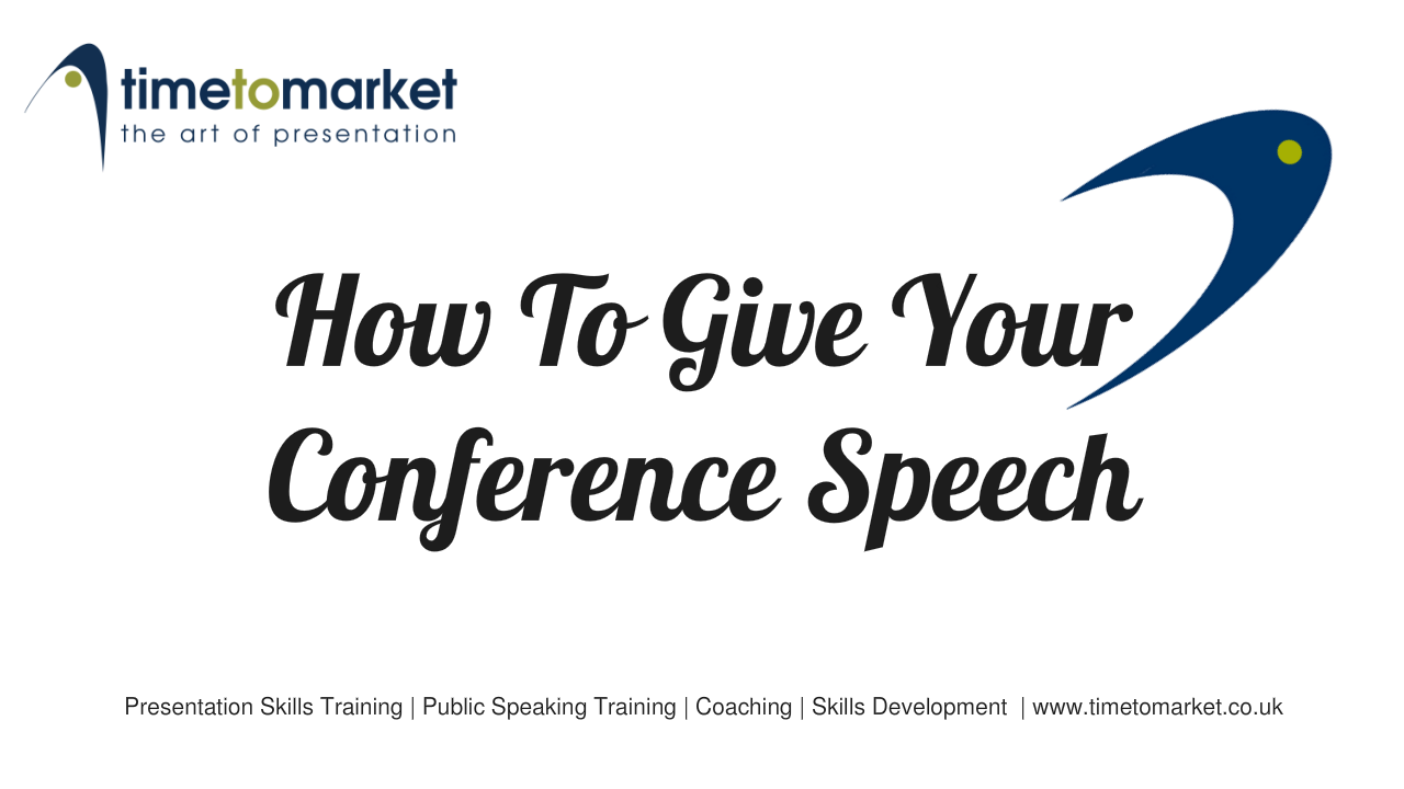 How to give your conference speech
