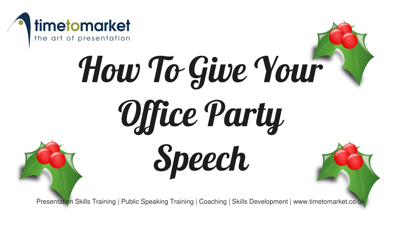 How to give office your office party speech