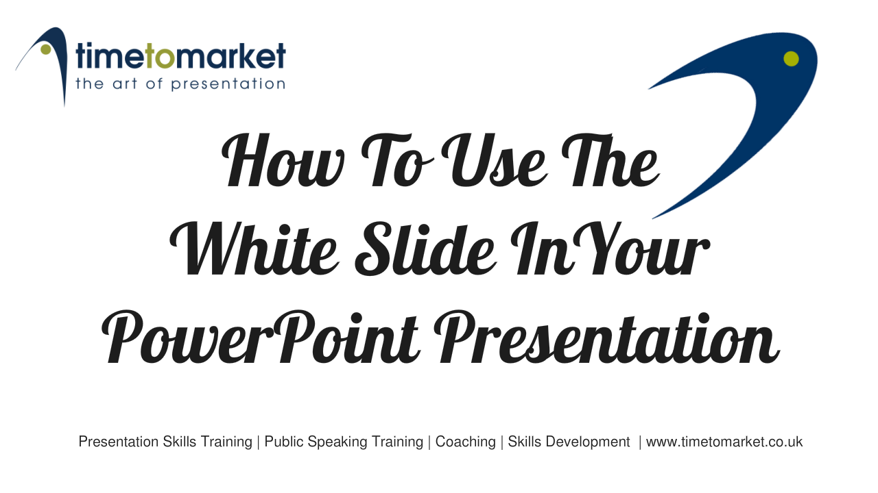 How to use the white slide