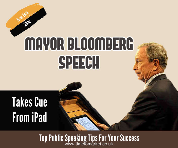 Your next speech with an iPad