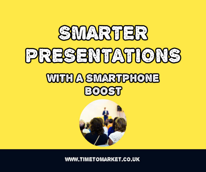 Smartphone for your next speech